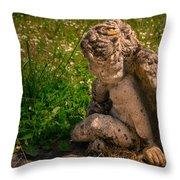 Guardian Angel Throw Pillow by Jean Noren