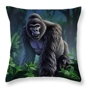 Guardian Throw Pillow by Jerry LoFaro