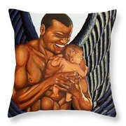 Guardian Throw Pillow by William Roby