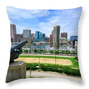 Guarding Baltimore - Generic Throw Pillow by Olivier Le Queinec