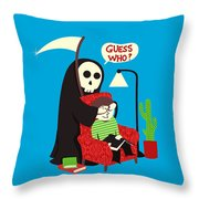 Guess Who Throw Pillow by Budi Kwan