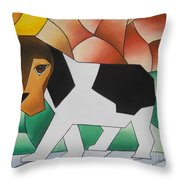 Guilty Throw Pillow by Sonya Walker