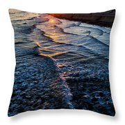 Gulf Sunset Throw Pillow by Perry Webster