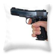 Gun Safety Throw Pillow by Charles Beeler