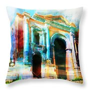 Hadrians Arch Throw Pillow by Catf
