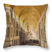 Haghia Sophia, Plate 2 The Narthex Throw Pillow by Gaspard Fossati