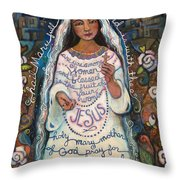 Hail Mary Throw Pillow by Jen Norton