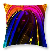 Hair Throw Pillow by Cheryl Young