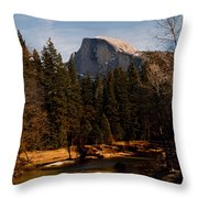 Half Dome Spring Throw Pillow by Bill Gallagher