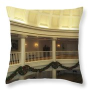 Hall Of Presidents Walt Disney World Panorama Throw Pillow by Thomas Woolworth