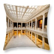 Hall of Sculpture Carnegie Museum Throw Pillow by Amy Cicconi
