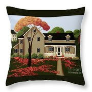 Halloween in Fallbrook Throw Pillow by Catherine Holman