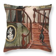 Halloween Witch Throw Pillow by Margaryta Yermolayeva