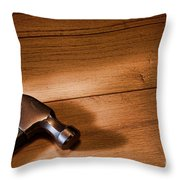Hammer On Wood Throw Pillow by Olivier Le Queinec