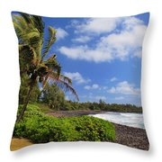 Hana Beach Throw Pillow by Inge Johnsson