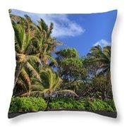 Hana Palm Tree Grove Throw Pillow by Inge Johnsson