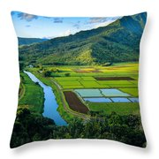 Hanalei Valley Throw Pillow by Inge Johnsson