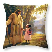 Hand In Hand Throw Pillow by Greg Olsen