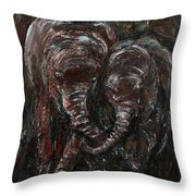 Hand In Hand Throw Pillow by Xueling Zou