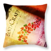 Handcraft Cabernet Sauvignon Throw Pillow by Mary Machare