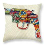 Handgun Logos Throw Pillow by Gary Grayson