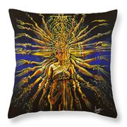 Hands Of Compassion Throw Pillow by Karina Llergo
