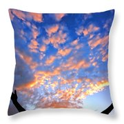 Hands Up To The Sky Showing Happiness Throw Pillow by Michal Bednarek