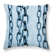Hanged Chains Throw Pillow by Carlos Caetano