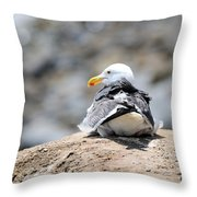 Hanging Out Throw Pillow by La Dolce Vita