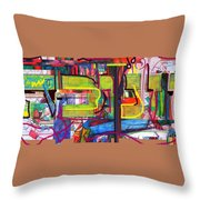 Hanukah 1 Throw Pillow by David Baruch Wolk