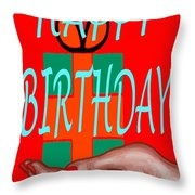 Happy Birthday 3 Throw Pillow by Patrick J Murphy