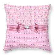 Happy Celebration Throw Pillow by Debra  Miller