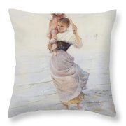 Happy Days  Throw Pillow by Hector Caffieri