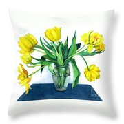 Happy Spring Throw Pillow by Barbara Jewell