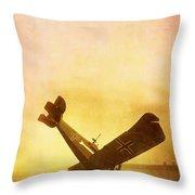 Hard Landing Throw Pillow by Edward Fielding