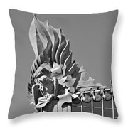 Harold Washington Library Chicago Throw Pillow by Christine Till