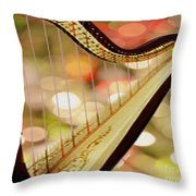 Harp Throw Pillow by Cheryl Young