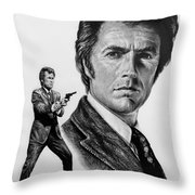 Harry Callahan Throw Pillow by Andrew Read