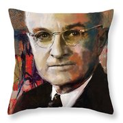 Harry S. Truman Throw Pillow by Corporate Art Task Force