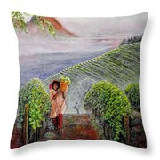 Harvest At Dawn Throw Pillow by Michael Durst