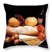Harvest Bounty Square Throw Pillow by Andee Design
