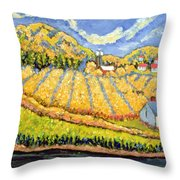 Harvest St Germain Quebec Throw Pillow by Patricia Eyre
