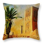 Hassan Tower Throw Pillow by Catf
