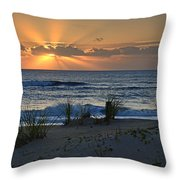 Hatteras Dawn Throw Pillow by Eric Albright