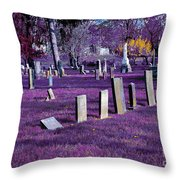 Haunted Cemetery Throw Pillow by Alys Caviness-Gober