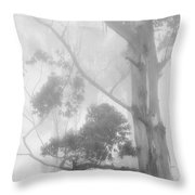 Haunted Forest Throw Pillow by Jenny Rainbow
