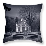 Haunted House Throw Pillow by Michal Bednarek