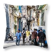 Havana Street Vii Throw Pillow by Jim Nelson