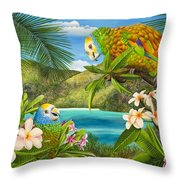 Have You Heard  Throw Pillow by Carolyn Steele