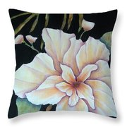 Hawaiian Pua Throw Pillow by Pamela Allegretto